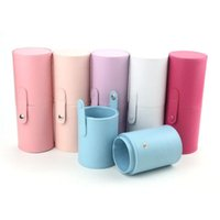 Storage Boxes & Bins Wholesale Multi-color Cosmetic Organizer Eyebrow Pencil Case Makeup Brush PU Leather Bag Pen Holder Pouch