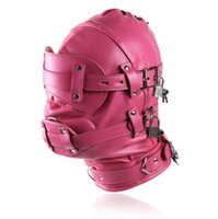 Female Adjustable Leather Bondage Headgear With Eyepatch Dildo Mouth Plug Gags Mask Restriants Gear Adult Bdsm Games Products Sex Toy For Couple 4 Color 31