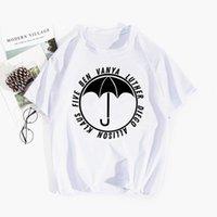 Mesdames d'été T-shirts de haute qualité Mode Académie parapluie Imprimer Cou rond manches courtes décontractées vêtements en vrac