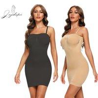 JoyShaper Nahtlose Frauen vollständige Kontrolle Slip unter Kleider Body Shaper Unterwäsche Bauchunterkirt Abnehmbarer Gurt Abnehmen Korsett 210402