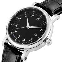 Designer uhr marke uhren luxusuhr stur araber ziffer mann mechanische uhr islamische montres mcaniques automatique homme luxe