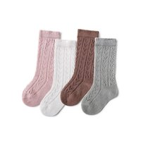 5 colores recién nacido bebé chicas malla hueco out calcetines niños verano peinado algodón medio tubo calcetín niños niños niños medias de moda 0-3y
