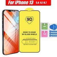 Pellicola Protezione schermo Telefono in vetro full cover 9D per iPhone 13 12 Mini Pro 11 XR XS Max 8 7 6 Samsung Galaxy S21 A32 A42 A52 A72 4G 5G A51 A71 A02S Moto G Stylus 2021