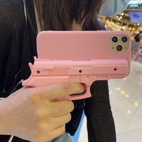Cassa del telefono cellulare a forma di pistola di modo per Apple iPhone 12 Cassa del telefono cellulare 8 / 7plus Pelle 11Pro Case protettiva Tide XS Max