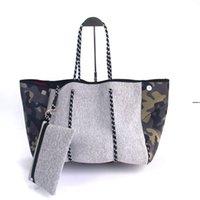 Stampa Leopard Camo Neoprene Beach Bag con borse a mano 32 stili Pannolino Pacchetto Campeggio all'aperto Camping Yoga Totes Mare Shipping OWD9424