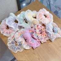 Girl Elegant Hair Scrunchies Sermaid Bands Couleur brillante Taenia Cravates pour filles Bandeau Dame Accessoires HWC7065
