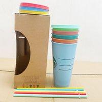 نجم باكز الحرارية كوب شرب كأس الباردة للتغيير البلاستيك تغيير القش المواد القش مواد PP