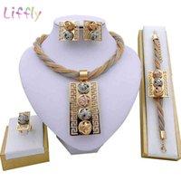 Лиффу мода индийские комплекты африканских ювелирных изделий набор кисточек свадебные свадьбы элегантные женщины ожерелье браслет сережки кольцо