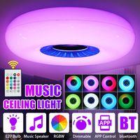 Dimmable E27 LED Lampada da soffitto Lampada da soffitto Bluetooth Music Light Bedroom Smart con luci di controllo remoto