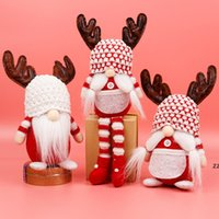 Noël sans visage gnome santa xmas arbre suspendu ornement poupée décoration pour accueil pendentif cadeau goutte ornements fournitures hwb8200