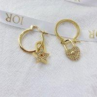 Lujo estudio diseñador venta pendientes latón ducked diamantes 925 plata aguja regalo fiesta fiesta para novia moda aaaaa reproducciones oficiales de la marca Hot Brand Studs