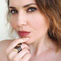 Anelli Gem Gem 2.75CT Natural Red Granato Gemstone Anello 925 sterling sliver vintage banda foglia foglia per le donne gioielli fini c2