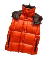 21FW designer Monclair high quality womens vest bread down feather windproof waterproof hat detachable leisure outdoor