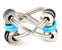 Decompression Chain Fidget Mão Spinner Finger Brinquedos Jogo De Metal Vent Brinquedo Bicicleta Keychain Chaveiro Anel Chaveiro Anel Antistress Presentes
