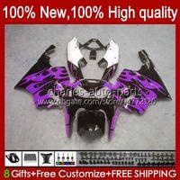 هيئة OEM ل Kawasaki Ninja ZX750 1996 1997 1999 1999 1999 2000 2002 2002 2003 2003 Bodyworks 28hc.77 ZX 7 R ZX 750 ZX 7R ZX-750 ZX-7R 96 97 98 99 00 01 02 03 Fairing Purple Flames جديد