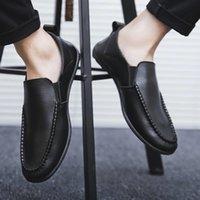 2020 Nuova primavera ed estate piselli scarpe da uomo in pelle casual pigro in pelle pigro vecchio Pechino versione coreana di un pedale wemew