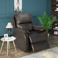 Bedroom Furniture Orisfur. Recliner Chair with Padded Seat - Faux Leather