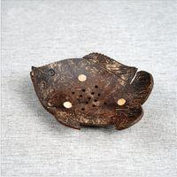 Coconut Creative Shell Sabão Sabão Borboleta Em Forma de Coco Dos Desenhos Animados de Sabão Dos Desenhos Animados Southeast Asiático Coco De Madeira Sabão Sabonetes Prato 1188 v2