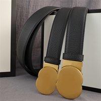 Cintura Mens Womens Fashion Classic Lychee Pattern Belt per uomo Donne Lettere Fibbia Bronzo 3.8 cm 3.4 cm Larghezza 21060800V
