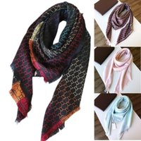 2021 G. Square Scarf Oversize Classic Check Shawls Scarves For Men and Women Designer Kerchiefs luxury Gold silver thread plaid g Shawl Multicolor Size 140*140