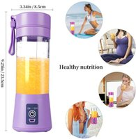 Electric Juicer Blender Kitchen USB Portable Personal Blenders With Travel Cup 380ML Rechargeable Juicers Bottle Fruit Vegetable Tool FHL384-WY1564