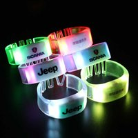 PVC Custom Remote Controlled LED Flashing Bracelet For Kpop Concert Wedding Party Remote Controlled Light Up Wristband