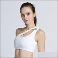 Gym Exercise Wear Outdoor Apparel & Outdoorsgym Clothing Sexy One Shoder Womens High Personality Oblique White Sports Bra Running Fitness Yo