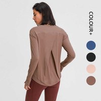 Women Tracksuit Tops Tees T-Shirt Clothing Top Womens Yoga Sports Fitness Running Loose Quick-drying Elastic Set Hand Round Neck Long Sleeve girls jogggers