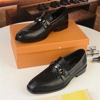 A1 MDADAO1 Men's Dress Shoes Fashion Groom Wedding Genuine Leather Brand Designer Oxfords 2021 Men Formal Business Flats size 6.5-11