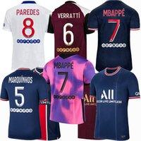 2021 2022 Sergio Ramos Jersey Jersey Verratti Ander Herrera di María Gana Kimpembe Mbappe Icardi K.Navas Paredes Marquinhos Kean Paris Futebol Men Kids Camisa