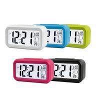 LED Digital Reloj de alarma Oficina Home Desktop Smart Electronic Clocks con calendario de temperatura Snooze Función Estudiante Boys Girls Regalo