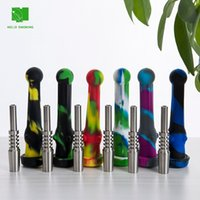 Smoke 14mm Silicone pipes NC silicon nectar collector with Stainless Steel tip --SRS442-S