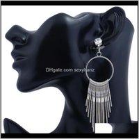 Dangle Metal Tassel Sier Gold Diamond Studs Chandelier Women Earrings Jewery Gift Will And Sandy Drop Ship 350122 Yfjfx T6Tds