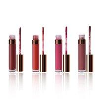 Lipgloss Machen Sie Ihre eigene Marke 40 Farben Vegan Feuchtigkeit Hohe Pigment Benutzerdefinierte Töne Zauberstab Tube Private Label Glossy Lipgloss