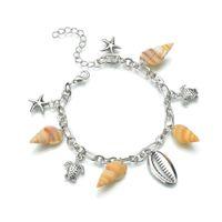 bracelet Creative Ocean series Anklet conch Metal Shell Turtle Pendant