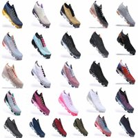 جديد laceless 2019 chaussures moc الثلاثي 2018 2.0 تشغيل zapatos أحذية رياضية وسادة سوداء رجل مصمم النساء ذبابة المدربين متماسكة 2 أبيض s rnfi