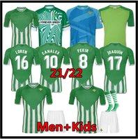 21 22 Real Betis Soccer Jerseys Joaquin B.Ignesias Camiseta de Fútbol Loren Juanmi Bartra Telo A.Guardado Casa Away Canales Fekir 2021 2022 Uomo Kit Kit Camicie da calcio