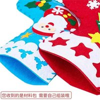 Christmas Stockings Decoration Gifts Bags Children's Kindergarten DIY Snowman Santa Candy Bag Xmas Tree Toy Gift Bag Supplies Pandents TOys G01TIDY