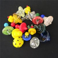 35mm OD Universal Colored glass UFO carb cap dome for Quartz banger Nails glass water pipes, dab oil rigs glass bong