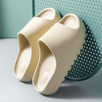 홈 여성 두꺼운 바닥 슬리퍼 플랫폼 chunky 힐 거실 거실 욕실 슬라이드 비 슬립 트렌드 디자이너 신발 숙녀 여성 HWS323