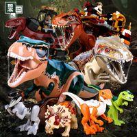 Bloklar Kendinden Kumandalı Zhegao QL1702Q-L1718 Dinozor Dünya Serisi çocuk Monte Yapı Taşı Oyuncaklar