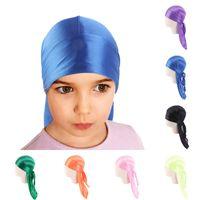 المخملية durag للأطفال طويل الذيل حك الاطفال dorag durags العمامة الباروكات القراصنة قبعات الحجاب هيب هوب القبعات الشعر غطاء الملحقات 792 x2