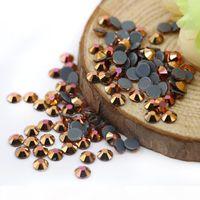 Magic Gold Austria Hot fix Glass Rhinestone for Wedding Dress Austria Hot fix Rhinestone Manufacturer Supply