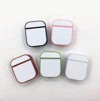 Caso de sublimação em branco para PC para Apple Airpods 1 2 Pro Fones de Ouvido Sem Fio Capa de Plástico Dura Com Placa de Alumínio Imprimível Inserto Sem Pacote