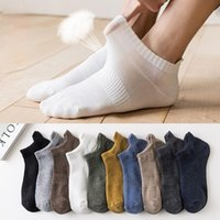 Men's Socks HSS Brand Spring Mesh Breathable Solid Color Cotton Three-dimensional Heel Casual And Comfortable