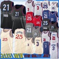 Joel 21 Embiid Jersey Ben 25 Simmons Al 42 Horford 2020 Hot NCAA Mens New Jersey Basketball Jerseys Allen 3 Iversson 21 Embiid 25 Simmons Jersey