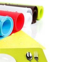 12 * 16 بوصة سيليكون nonstick الخبز حصيرة المعجنات الجدول حصيرة مع أحمر أخضر أزرق أصفر براون البرتقالي سيليكون الحصير الشمع غير عصا منصات 289 v2