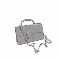 Edição Limitada Mini Classic Ringbone Flip Bag Corrente Bolsas De Ombro Caviar Couro Tote Top Quality Elegante Party Package Patch Bolsa