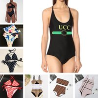الصيف عطلة البيكينيات مجموعة قطعة واحدة ملابس السباحة إمرأة ملابس المصممين إلكتروني طباعة السيدات بدلة السباحة