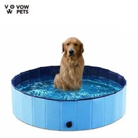 Dog Bathtub Swimming Pool Beach Outdoor Indoor Foldable Washing Tub And Portable For Dogs Cats Kennels & Pens